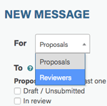 new reviewer messages option